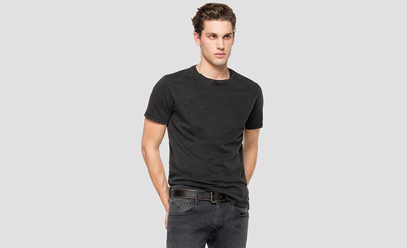 Camiseta algodón logo Replay  con 15% dto