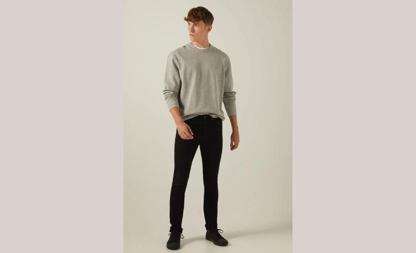 Pantalón 5 bolsillos skinny color lavado