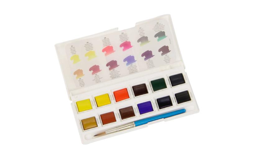 Acuarela en Pastillas Set de 12 colores