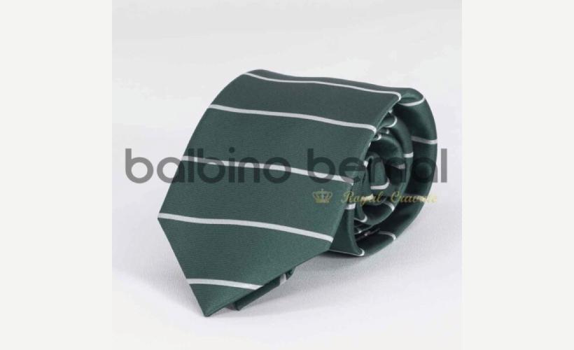 Corbata diseño verde rayas horizontales