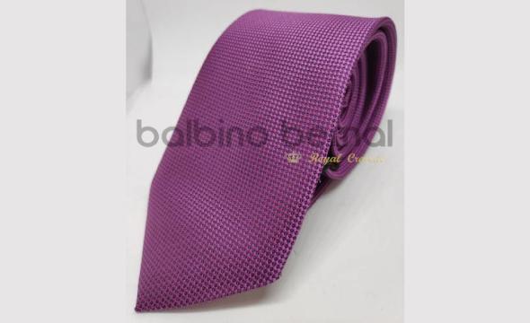 Corbata microfibra morada con buganvilla