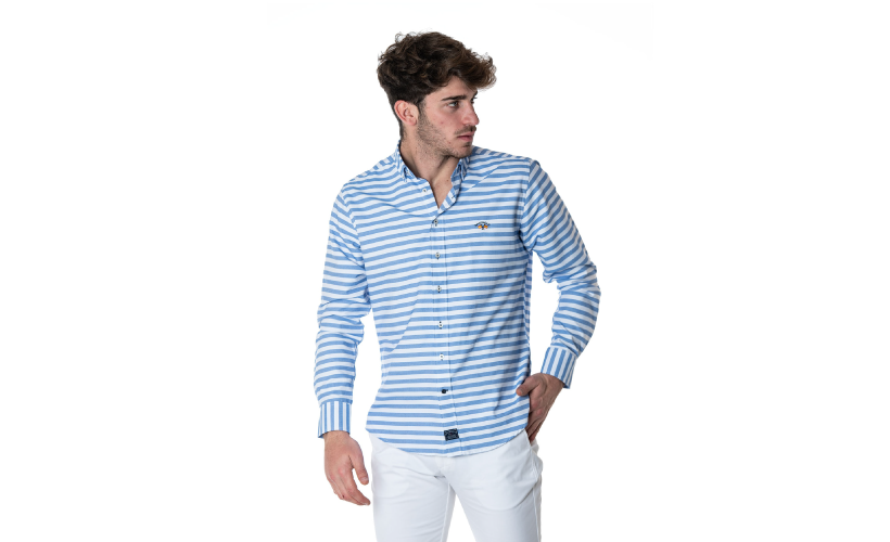 Camisa cuello botón Oxford con 15 % dto
