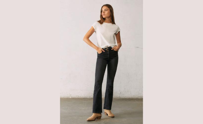 Jeans boot cut lavado sostenible