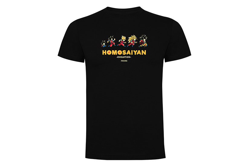 Camiseta Homosaiyan Evolution
