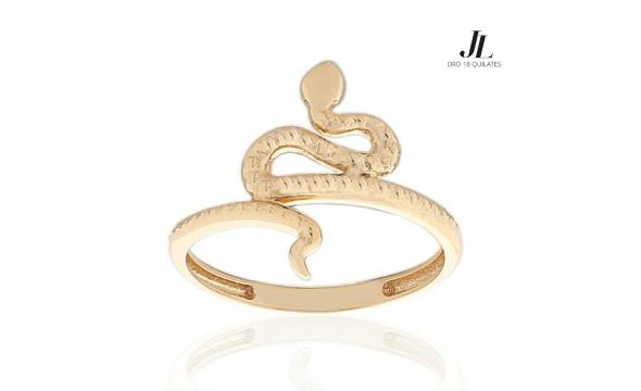Sortija de Oro con forma de Serpiente