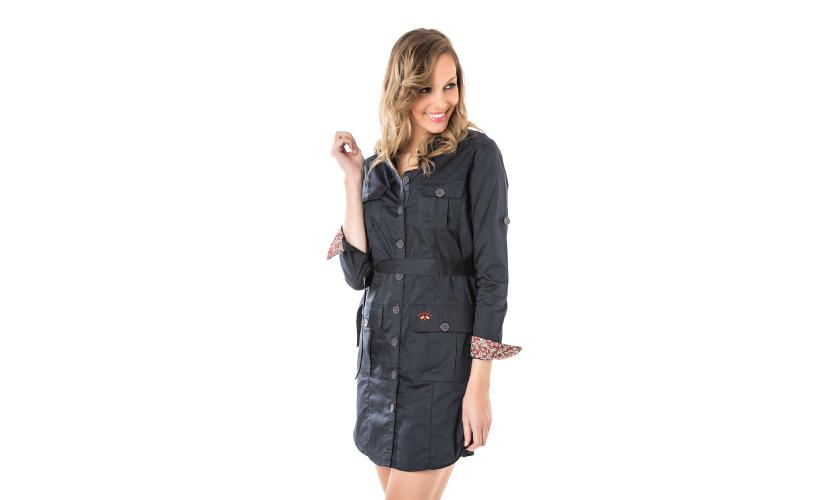 Vestido camillero multibolsillo con 15 % dto