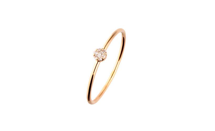 Anillo Oro Amarillo y Diamantes 15% descuento