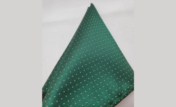 Pañuelo de solapa verde